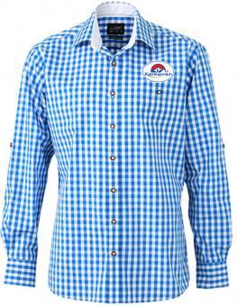 Herren Popeline Trachten Hemd
